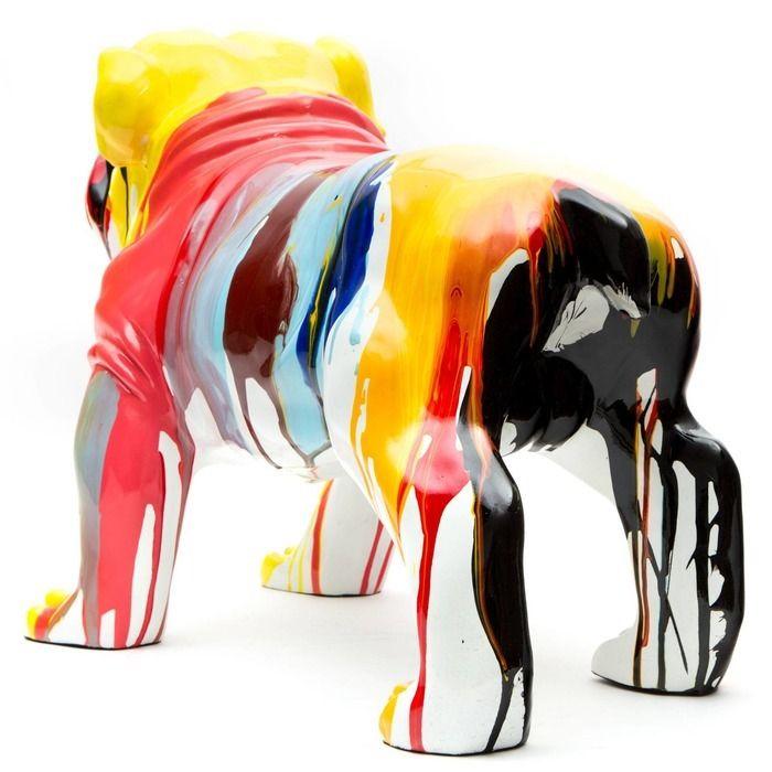 Serie ANIMALES M   SANDOR Bulldog multicolor