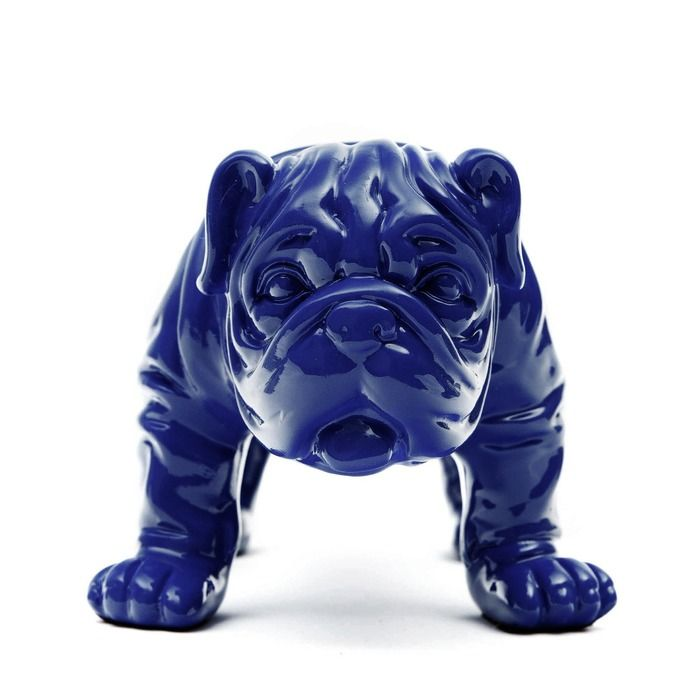 Serie ANIMALES XS | TROY Bulldog azul