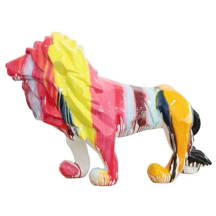 Lion multicolore | Série XL