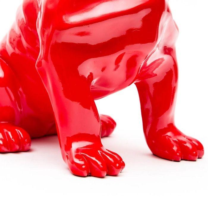 Bulldog rouge assis | Série XS