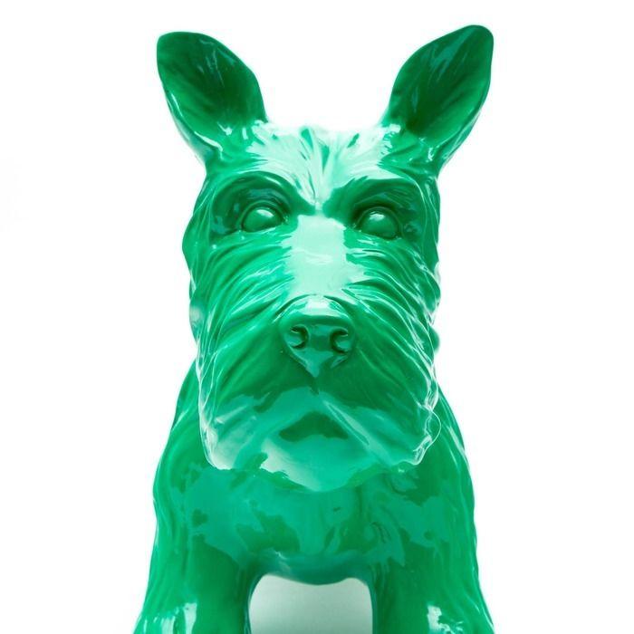 Serie ANIMALES S | Schnauzer verde