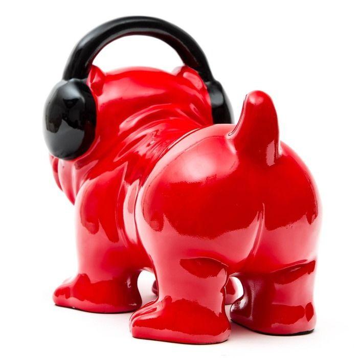 Serie ANIMALES XS | Bulldog rojo DJ