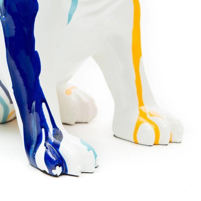 Serie ANIMALES M   DROGO Bulldog multicolor sentado