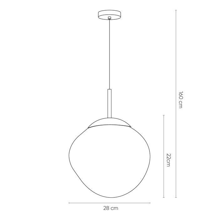 THELIO | Lámpara colgante cromo (Ø 28 x H 166)