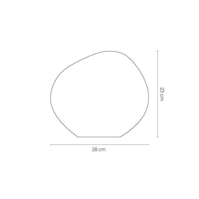 Lampe de table chrome | Thelio  (Ø 28  x H 23)