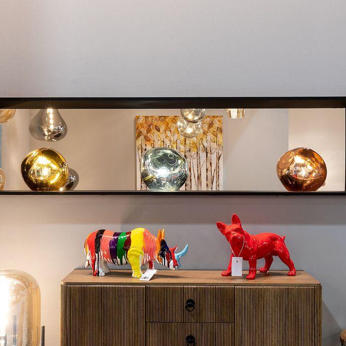 Lampe de table chrome| Dotent  (Ø 36  x H 32)