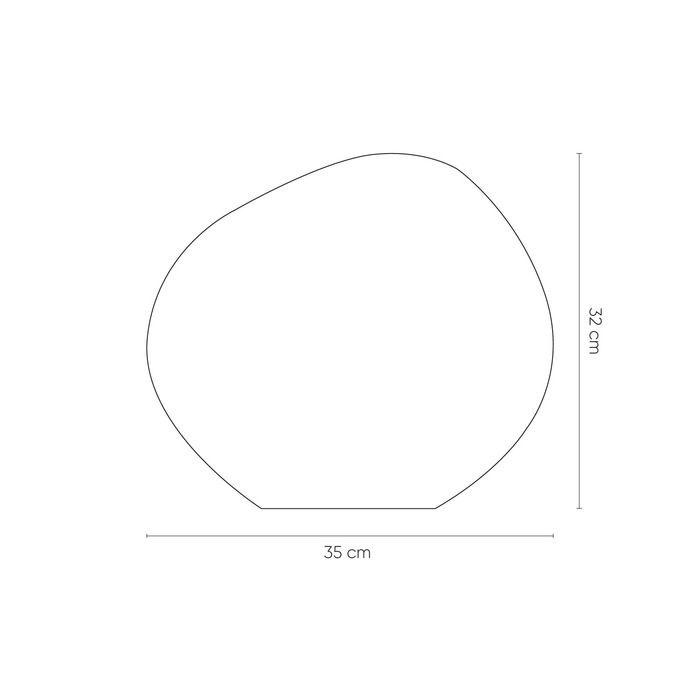 DOTENT | Lámpara de mesa dorada (Ø 36 x H 32)