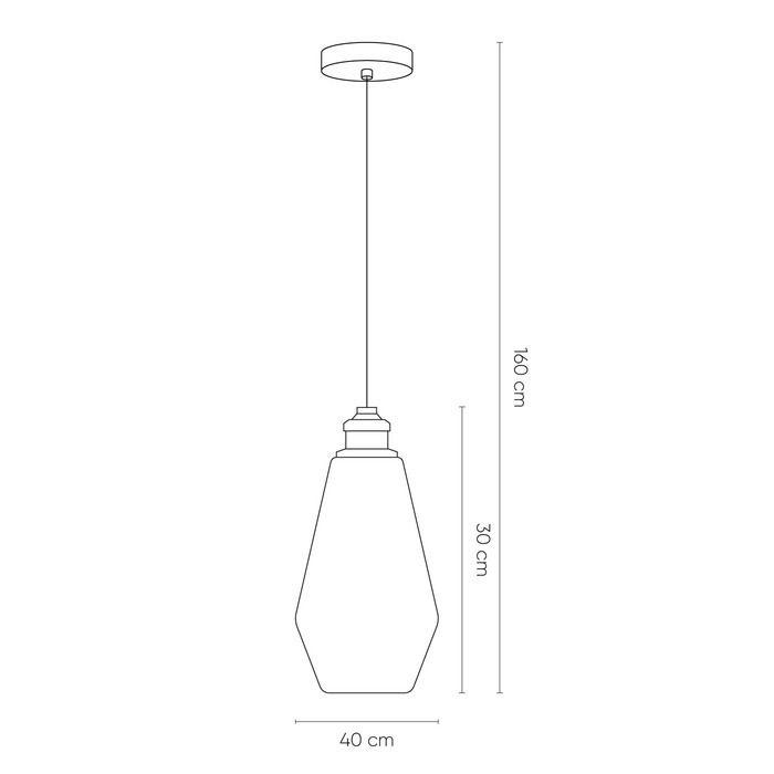 AXTIPE | Lámpara colgante ámbar (Ø 17 x H 160)