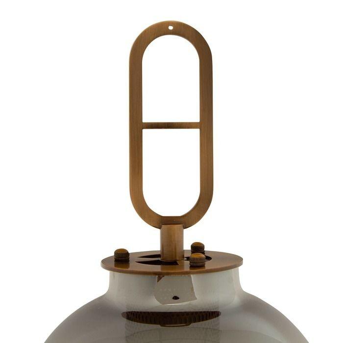 GYLUS | Lámpara de mesa smoky (Ø 22 x H 64)