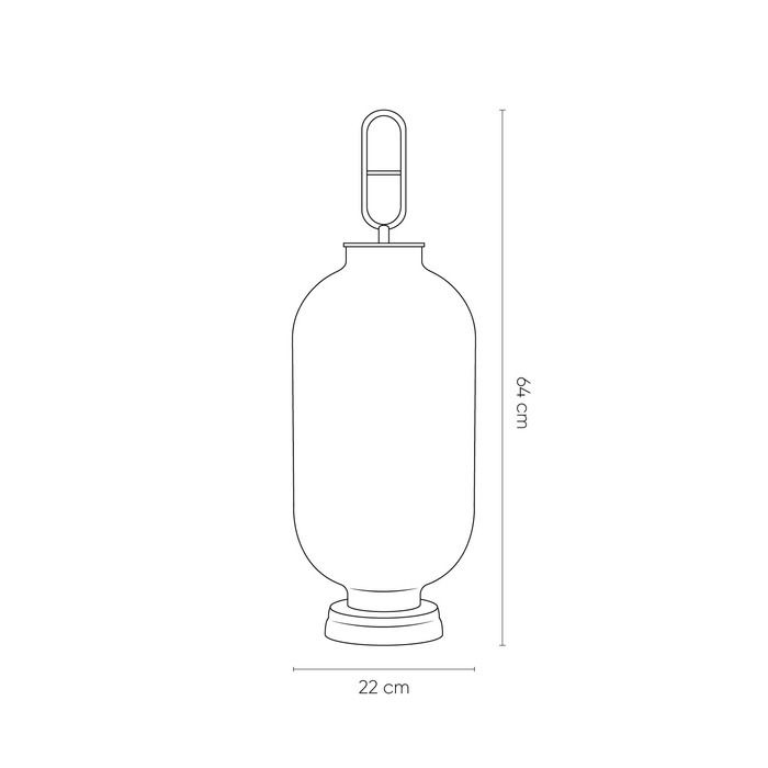 Lampe de table smoky | Gylus  (Ø 22  x H 64)