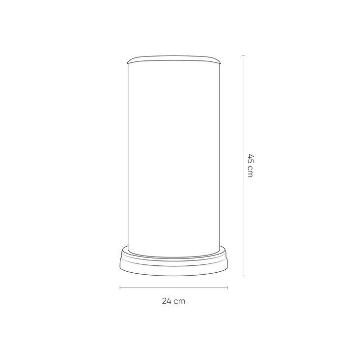 PANBAT | Lámpara de mesa smoky (Ø 24 x H 40)