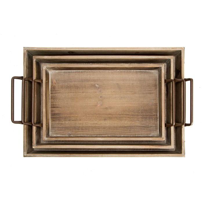 DISH | Set 3 cajas de madera con asas