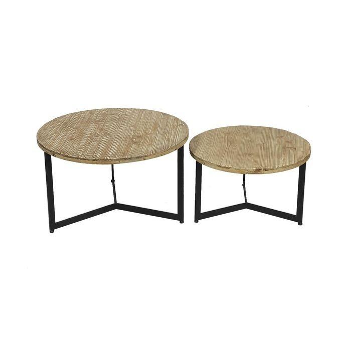 Set 2 tables d'appoint Kantio | Série Tex