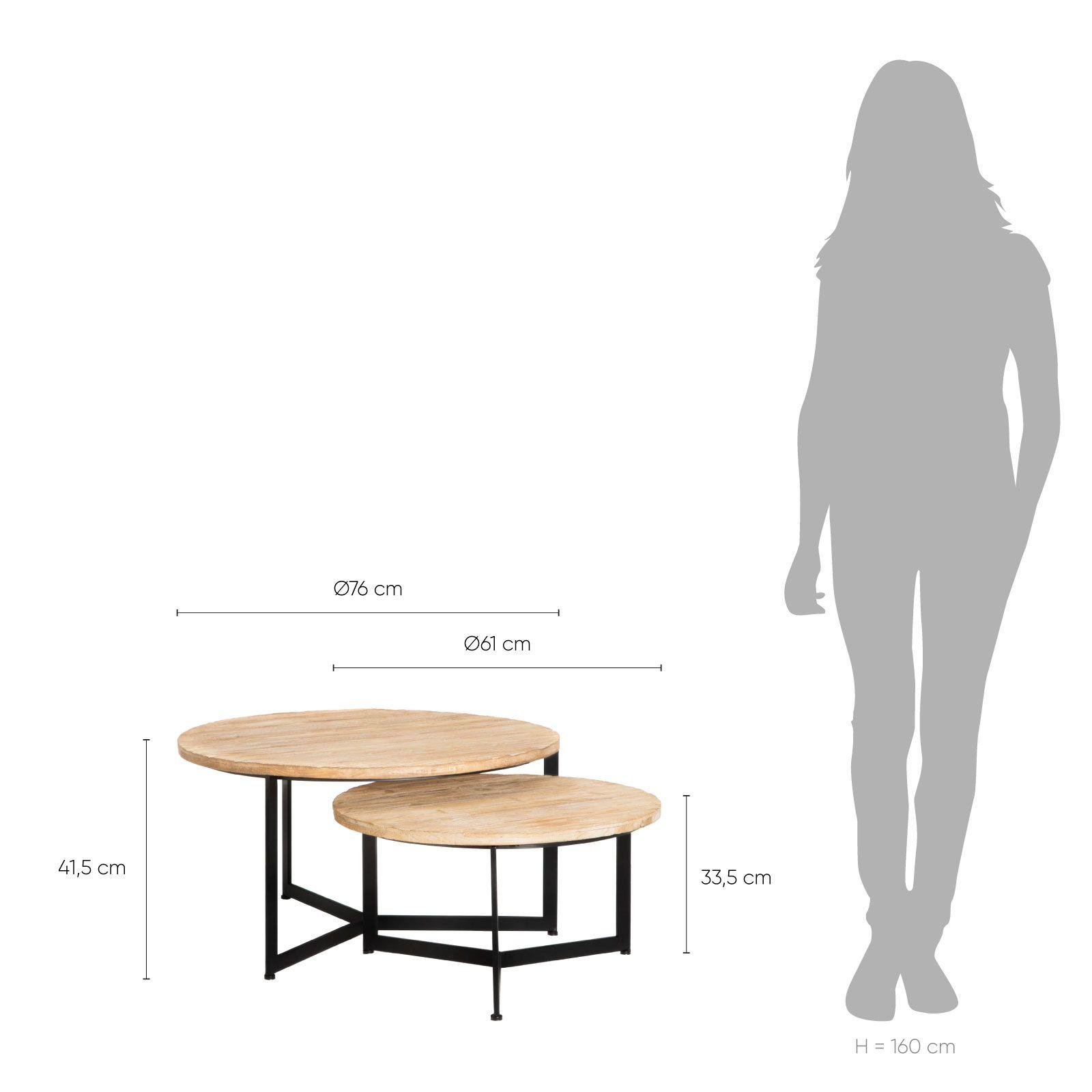 Serie TEX | Set 2 mesas auxiliares Kantio