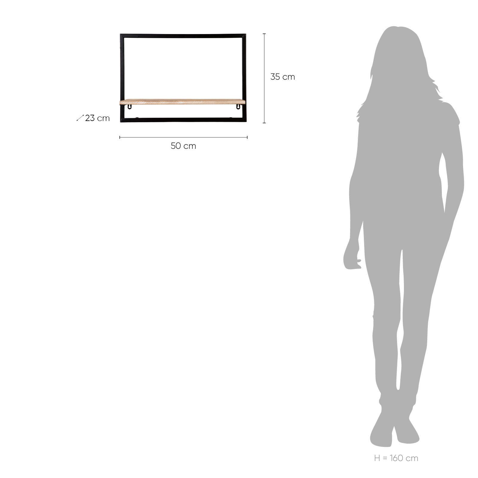Serie LICK | Estantería de pared horizontal M (50 x 23 x 35)
