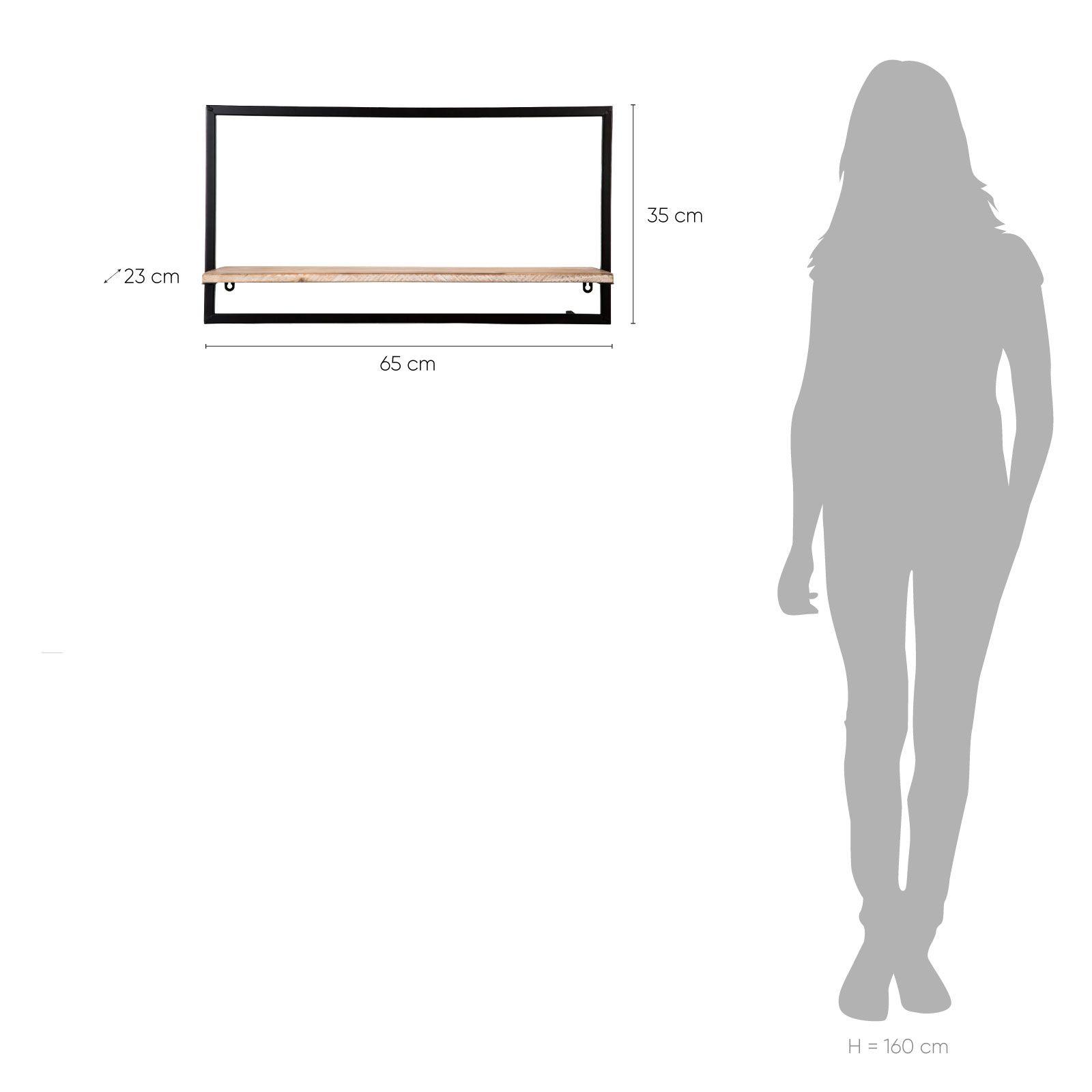 Serie LICK   Estantería de pared horizontal G (65 x 23 x 35)