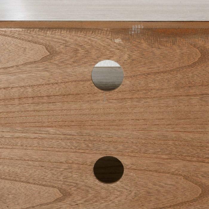 LESSIME | Mueble TV de madera paulownia (159 x 40 x 56)