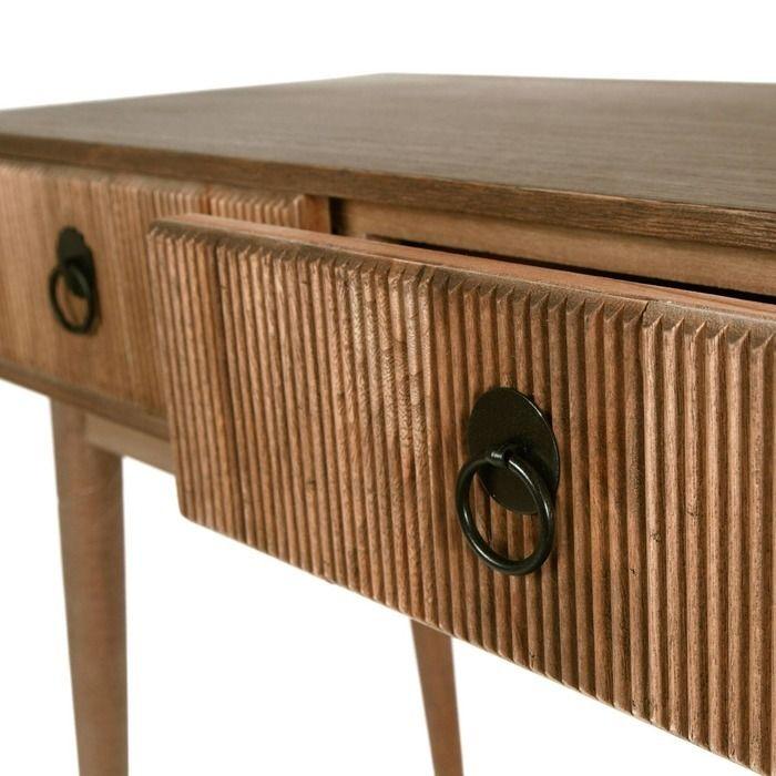 LESSIME | Consola de madera paulownia (90 x 40 x 75)