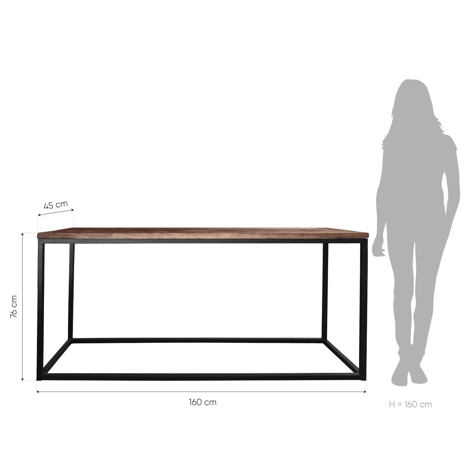 NEGE | Consola de madera de olmo reciclado (160 × 45 × 76)