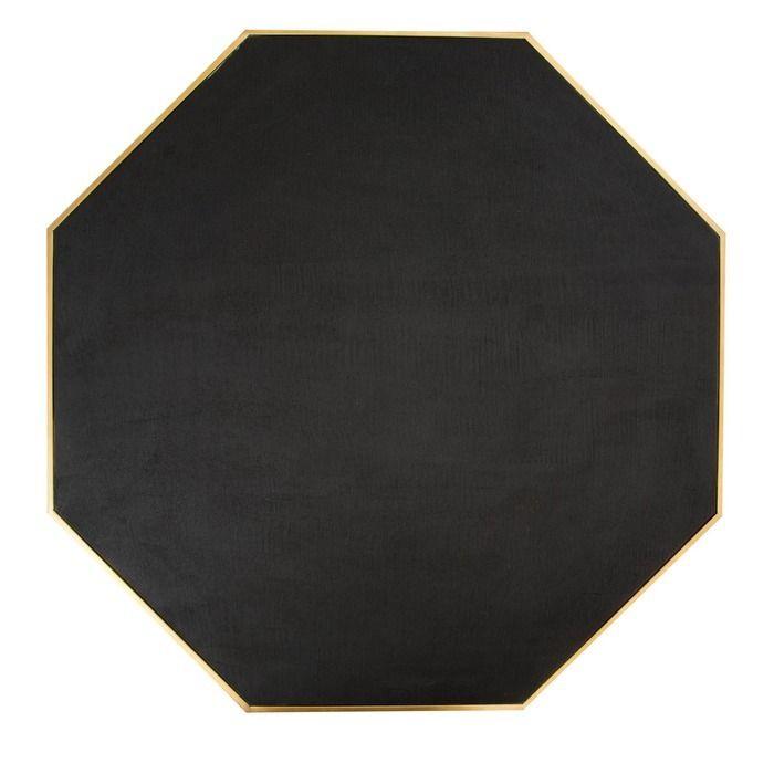 SUBOR | Mesa de centro de madera efecto cemento y acero (100 x 100 x 40)