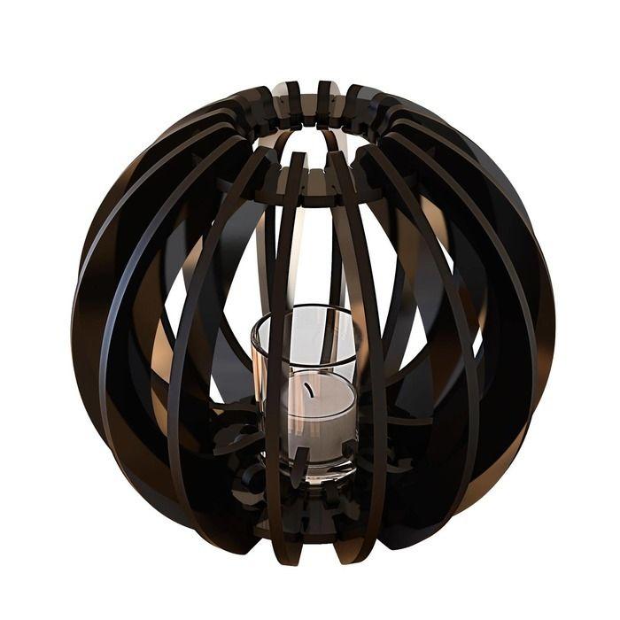 Bougeoir T-light Sphère noire