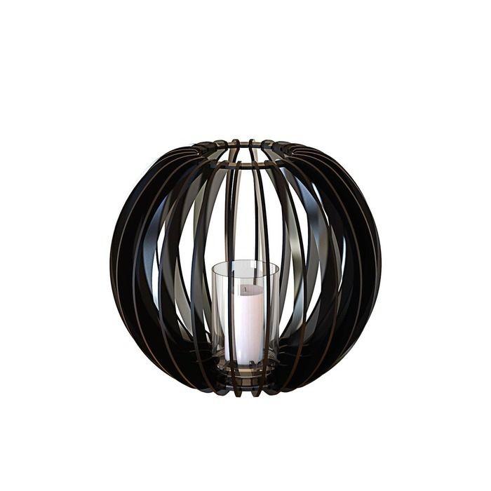 Bougeoir Sphère 40 noire