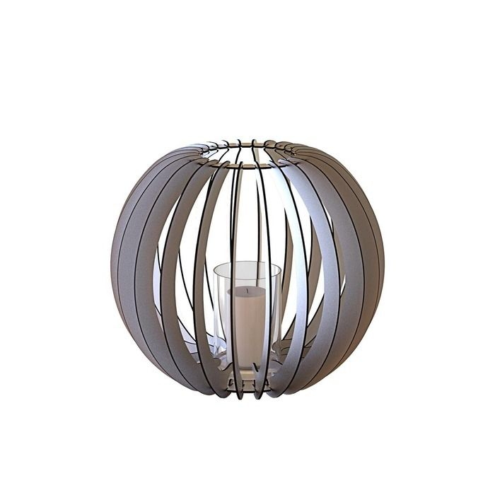 Bougeoir Sphère 40 grise