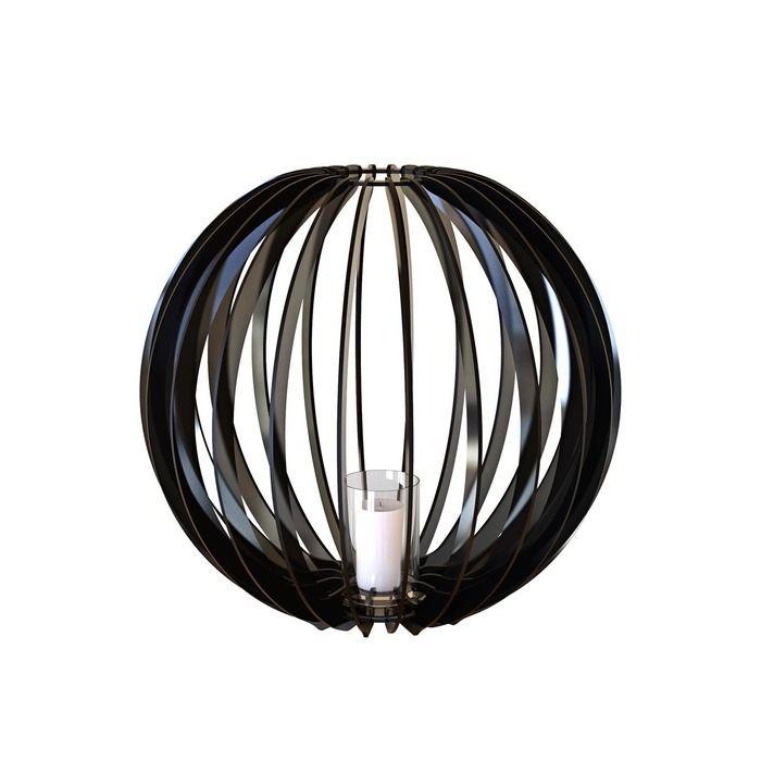 Bougeoir Sphère 60 noire