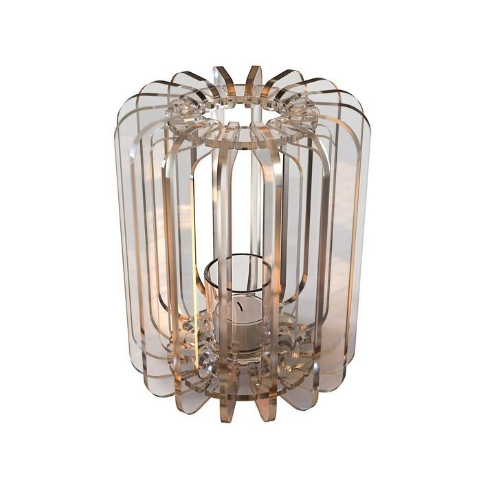 Bougeoir T-light Cylindre transparent