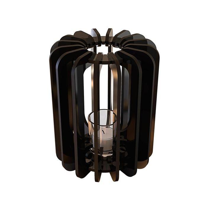 Bougeoir T-light Cylindre noir