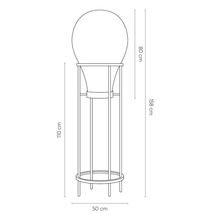 HATANN Smoky | Lámpara de pie (Ø 50 x H 158)
