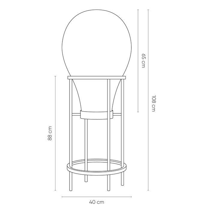 HATANN Smoky | Lámpara de pie (Ø 40 x H 108)
