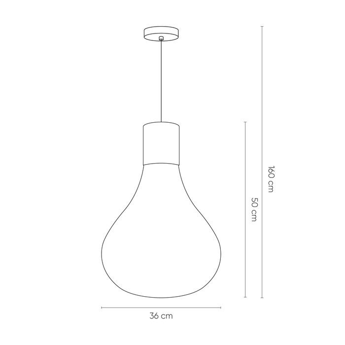 TRIZ Ámbar | Lámpara colgante cristal Ø 40