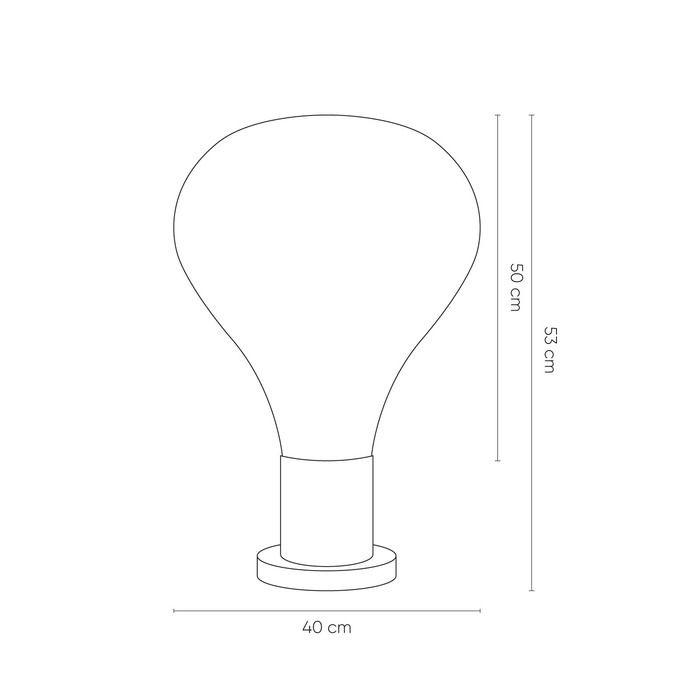 Lampe de table en verre  (Ø 40 x H 53) | Triz Smoky