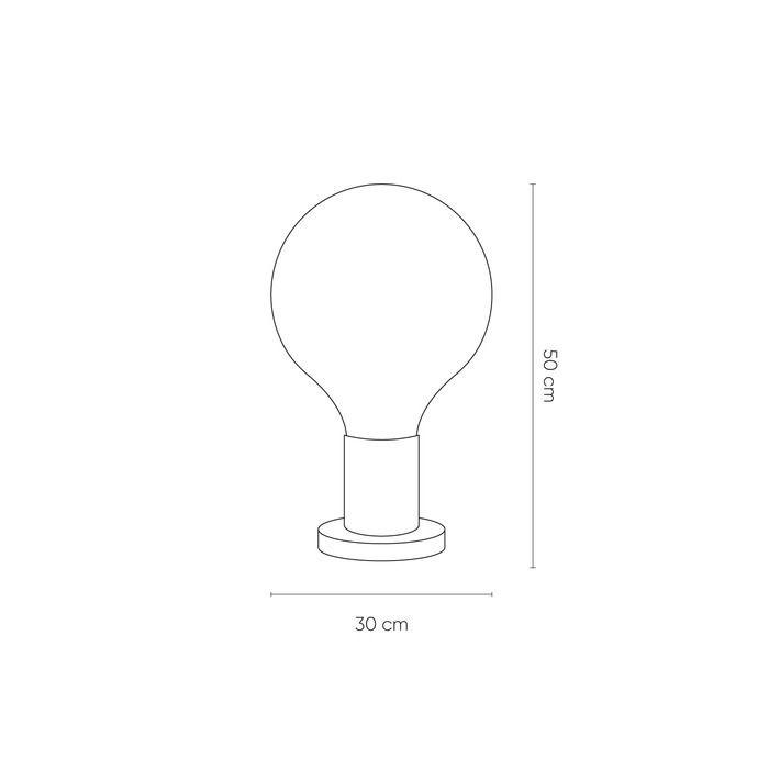 LAUGO Smoky | Lámpara de mesa (Ø 30 x H 49)