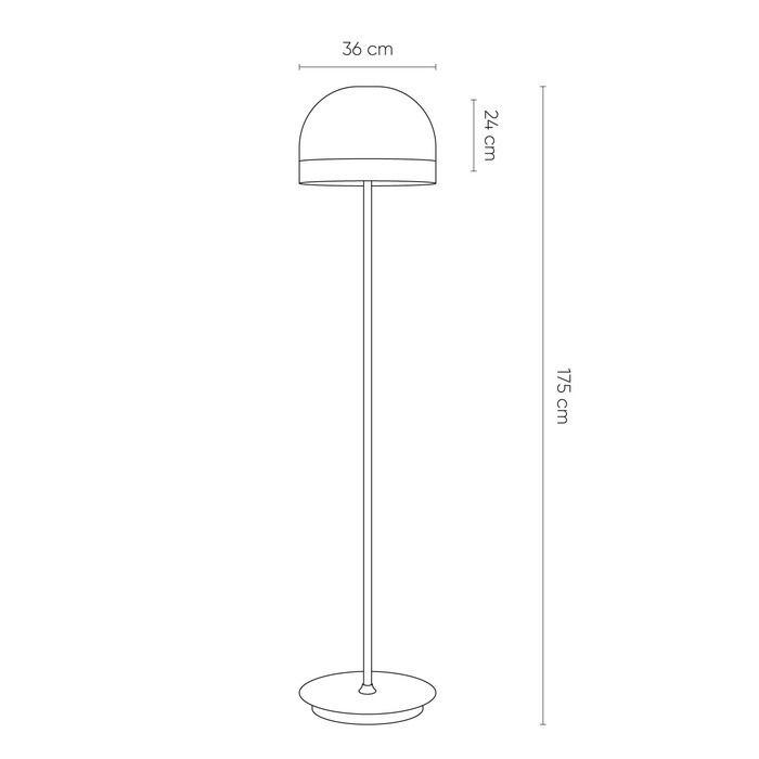 RAYCHEL Perla | Lámpara de pie (Ø 36 x H 175)
