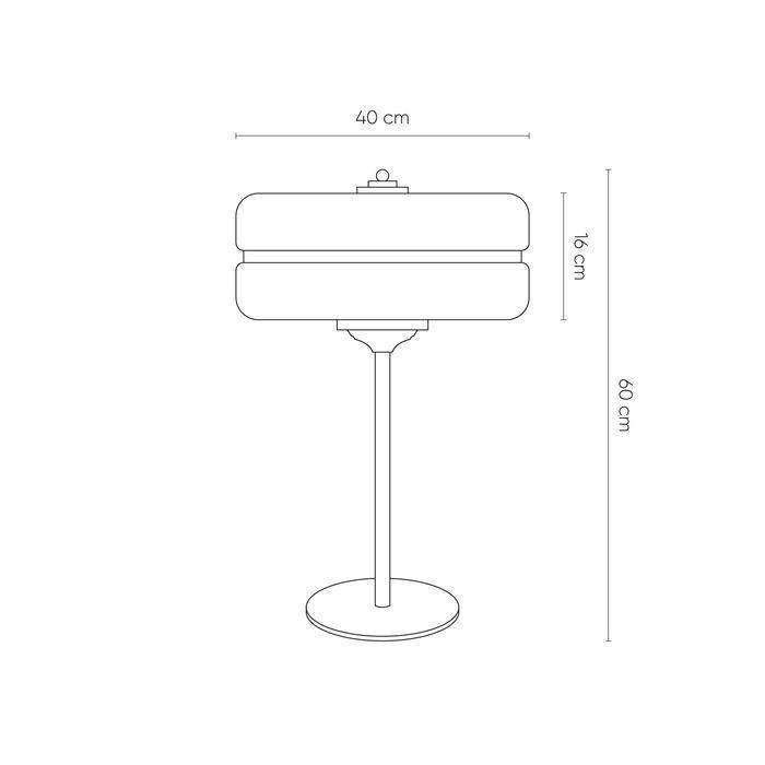 Lampe de table | Sarod - Blanc et doré (Ø 40 x H 60)