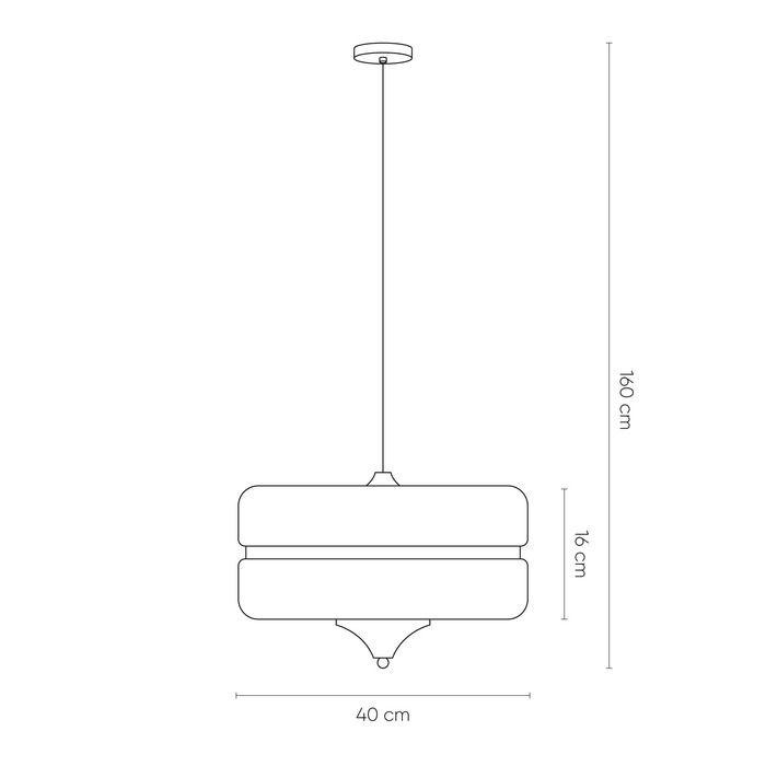 SAROD | Lámpara colgante blanco y dorado Ø 40