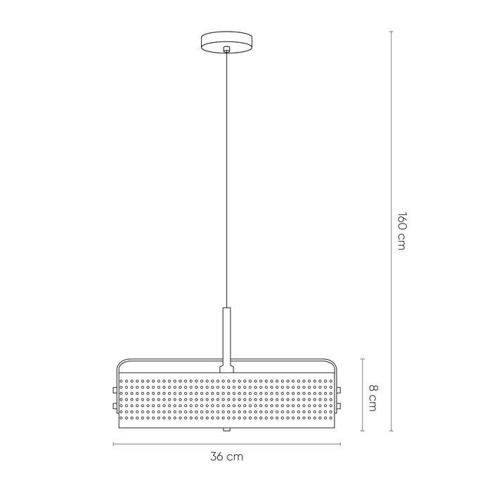 MOHICA Negro | Lámpara colgante Ø 40