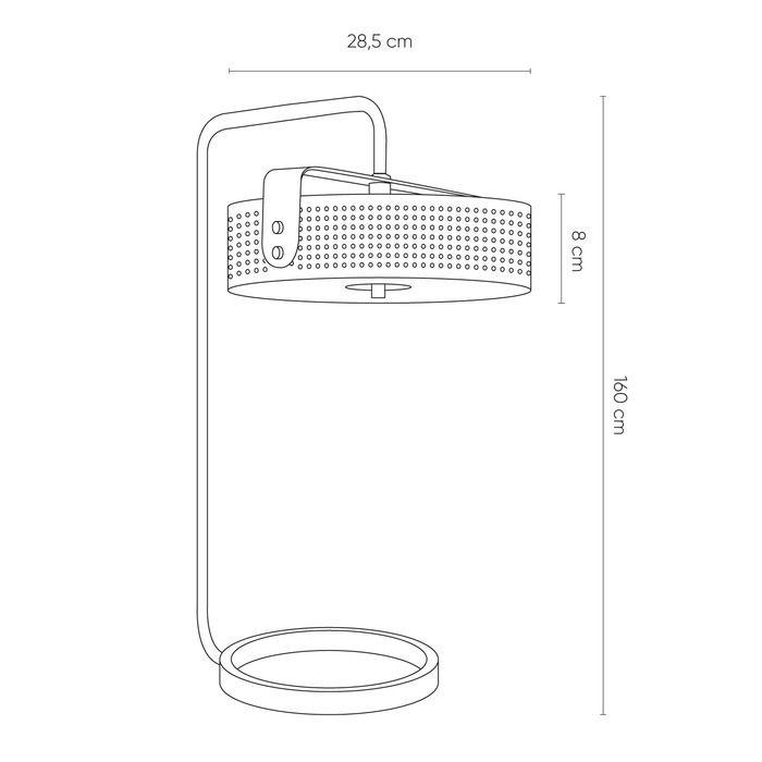 MOHICA Negro | Lámpara de mesa (Ø36 x H 60)