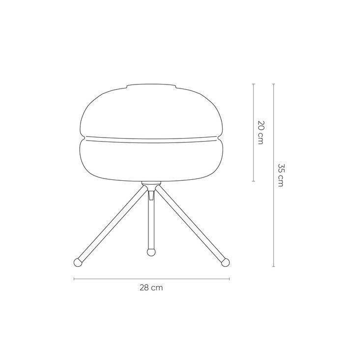 DABACHE Cobre | Lámpara de mesa (Ø29 x H 35)