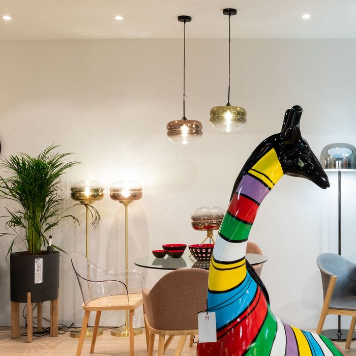 DABACHE Cobre | Lámpara de pie (Ø 30 x H 160)