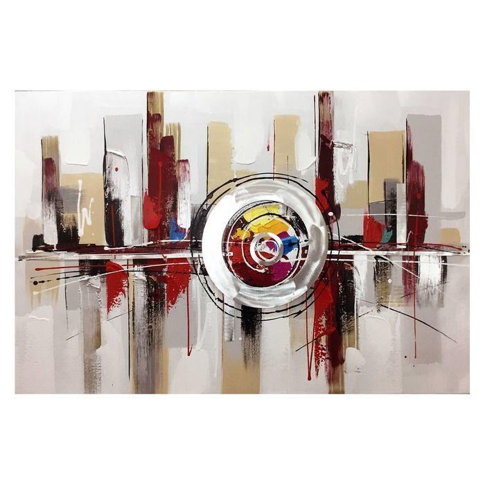 Tableau abstrait avec reflet (120 x 80 cm) | Série Abstrait