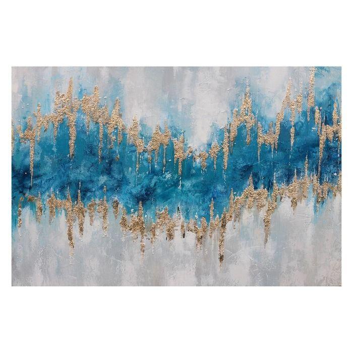 Tableau abstrait bleu (120 x 80 cm) | Série Abstrait