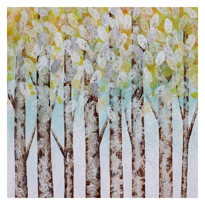Tableau forêt (100 x 100 cm) | Série Nature