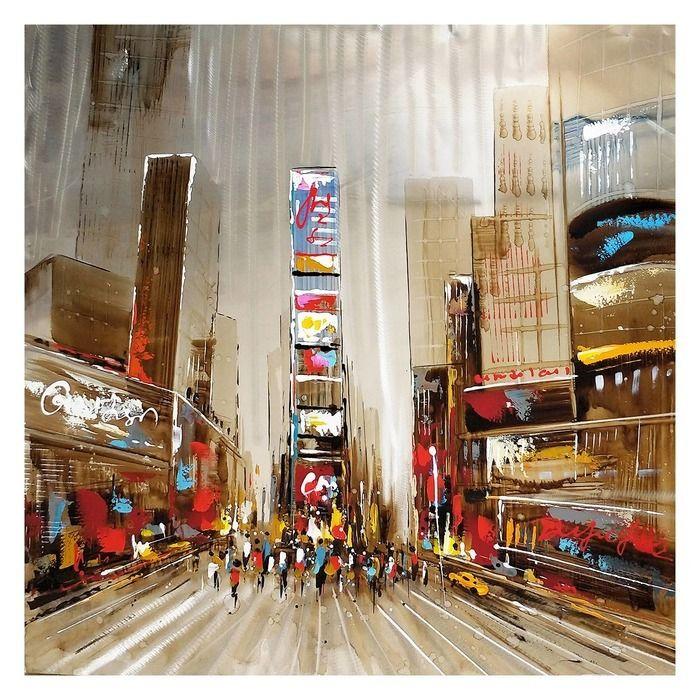 Tableau paysage urbain (100 x 100 cm) | Série Urbain