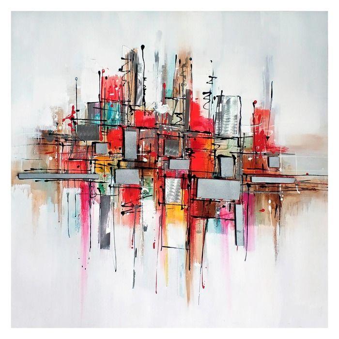 Tableau abstrait (100 x 100 cm) | Série Abstrait