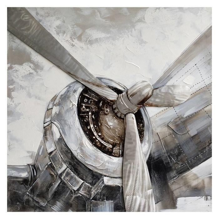 Tableau hélice d'avion (100 x 100 cm) | Série Objets