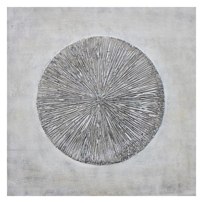 Tableau abstrait avec effet 3D (100 x 100 cm)   Série Abstrait