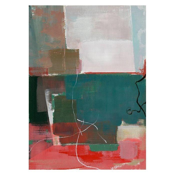 Tableau abstrait multicolore I (50 x 70 cm) | Série Abstrait